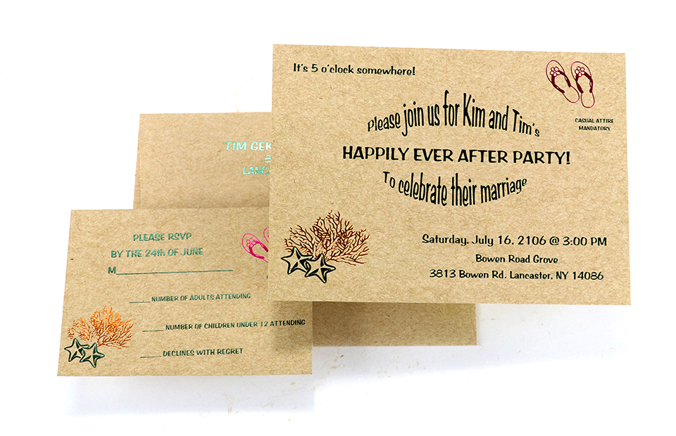 Wedding Party Invitations Buffalo, NY - Graphcon