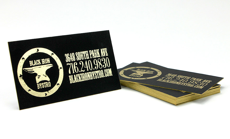 Foil stamped edge painted business cards buffalo ny business cards with foil stamping buffalo ny reheart Gallery