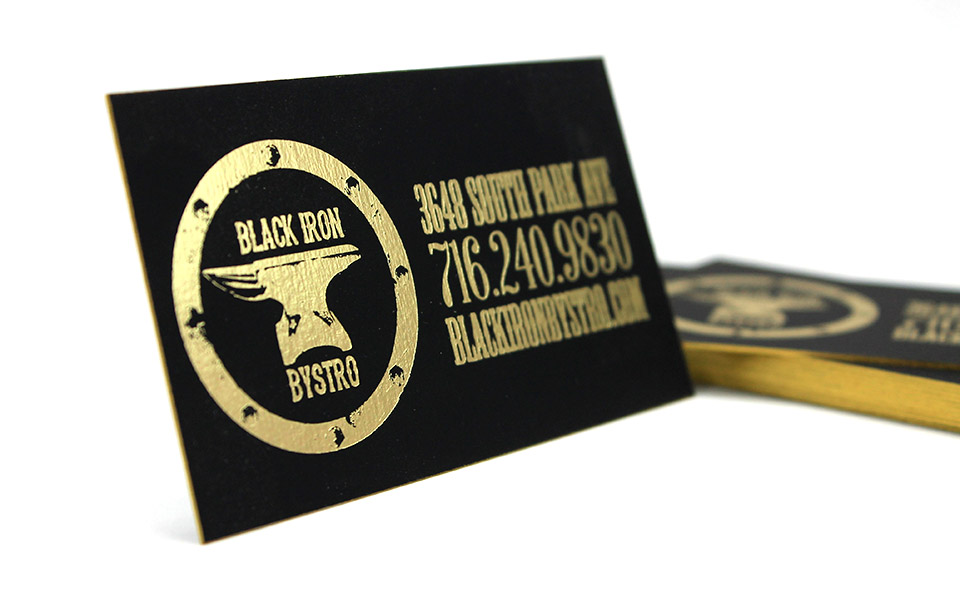 Foil stamped edge painted business cards buffalo ny gold foil stamping buffalo ny edge painted business cards reheart Gallery